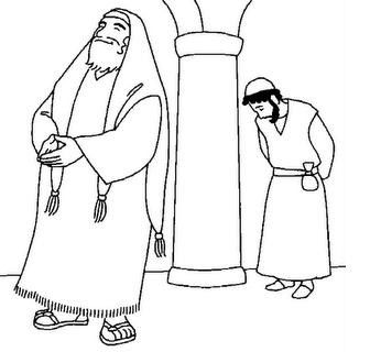 Fariseo E Pubblicano 10 Jpg 336 320 Coloring Pages Sunday School Lessons Jesus Bible Crafts