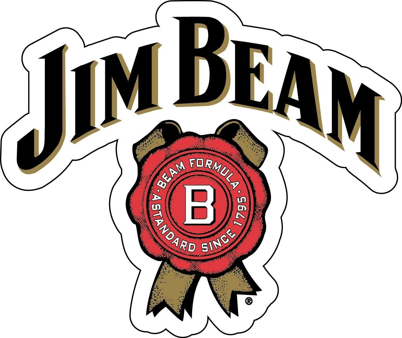 Jim Beam Sticker Decal Different Sizes Whiskey Bourbon Alcohol Bar Wall Vinyl Jim Beam Beer Pong Table Painted Beer Pong Table Designs