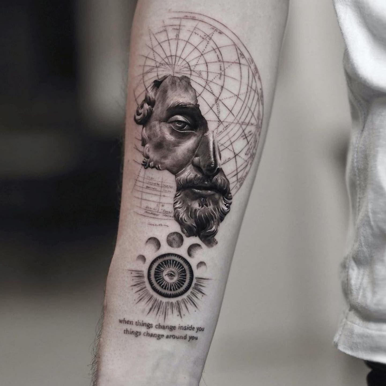 Stoicism Marcusaurelius Philosophy Philosophybooks Epictetus Senecatheyounger Stoic Wisstoictattoos Repost Tattoos Greek Tattoos Inspirational Tattoos