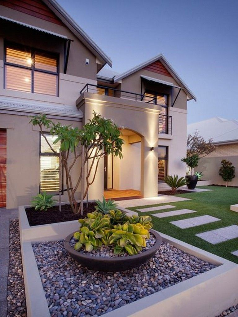 45 Gorgeous Modern Front Yard Landscaping Ideas Page 20 Of 47 In 2020 Modern Landscaping Cheap Landscaping