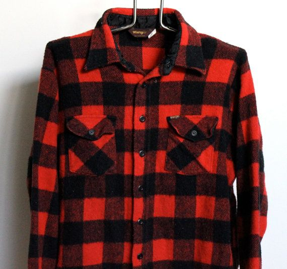 Wrangler Buffalo Plaid Flannel Shirt Mens Extra Large Xl