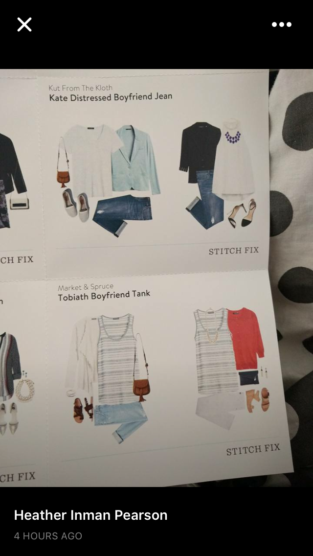 Love the jeans and tank, as long as I wouldn't look too big or frumpy in them