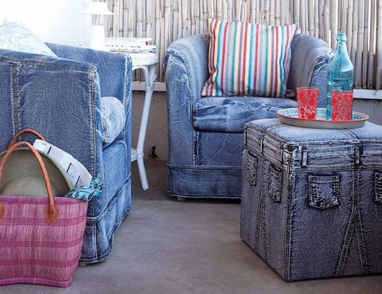 Recycled Denim Jeans Sofa Covers | Recycle jeans, Sofa covers and ...