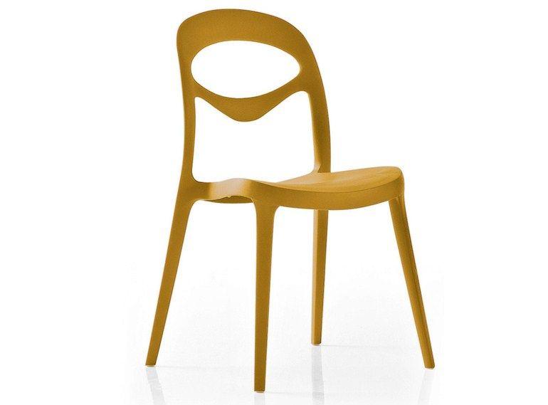 Stackable polypropylene garden chair FOR YOU by DOMITALIA