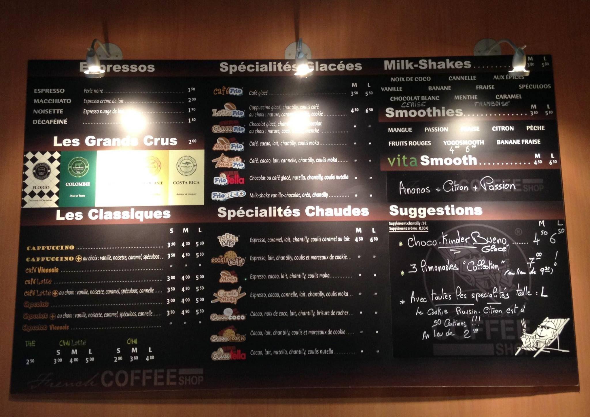 French Coffee Shop. Menu dégustation. Pause gourmande.   French coffee  shop, Coffee shop, Macchiato