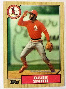 1987 Topps Ozzie Smith Baseball Card Baseball Cards Baseball Cards For Sale Baseball