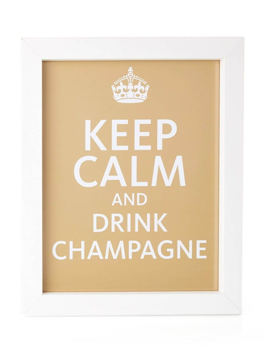 Keep Calm Poster Gold | Calming and Gold