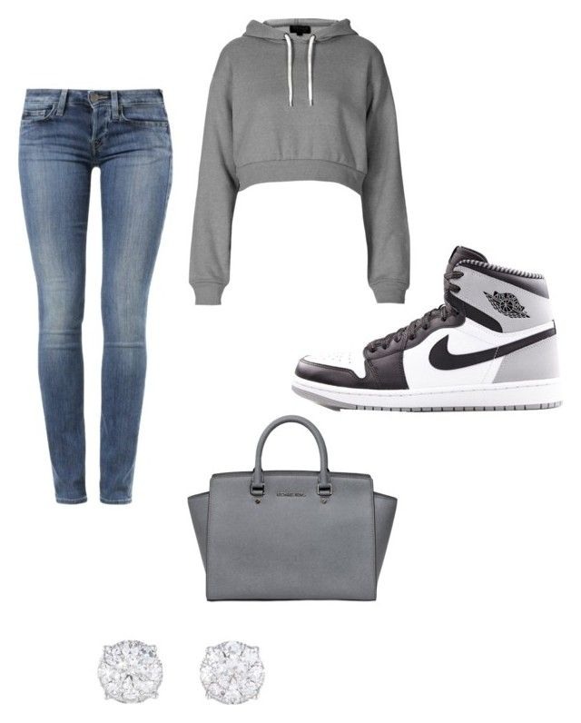"""""""Regular Day"""" by baddiegabby ❤ liked on Polyvore featuring True Religion, Topshop, Retrò and MICHAEL Michael Kors"""