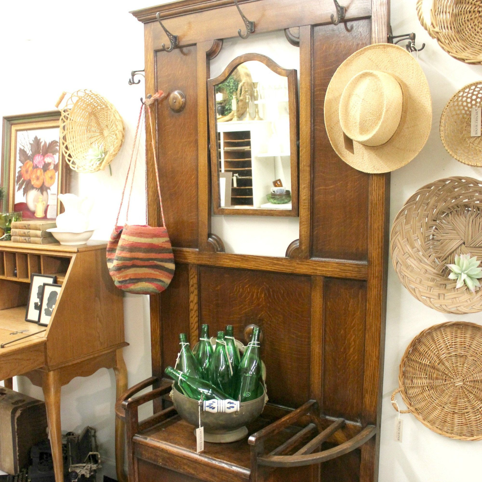 Antique hall tree available! MENDEZ MANOR booth at Pomona Antique ...