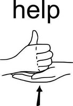 sign language asl word of the week help sign language
