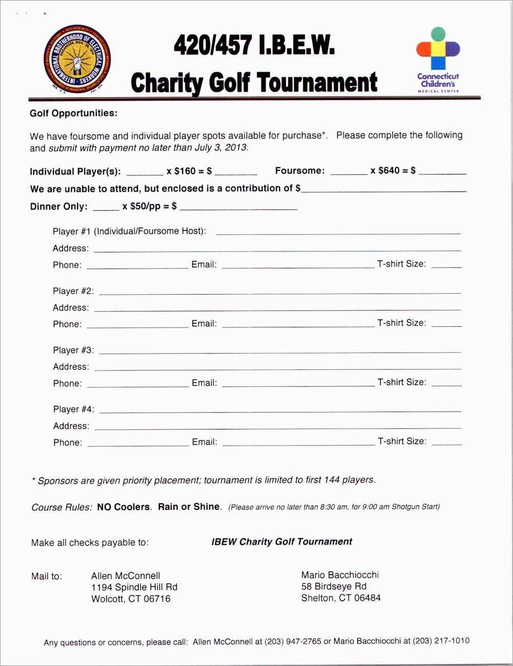 Free Golf Tournament Registration Form Template Fabulous Sponsorship Regarding Golf Tournament Sponsorship A Golf Tournament Professional Templates Tournaments