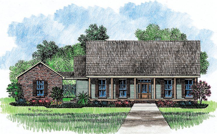 Lovely Serendipity   Acadian House Plans Louisiana House Plans Great Pictures