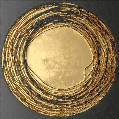 Photo of Luxury Abstract Gold Canvas Art Prints – 30x30cm 12x12inch / N