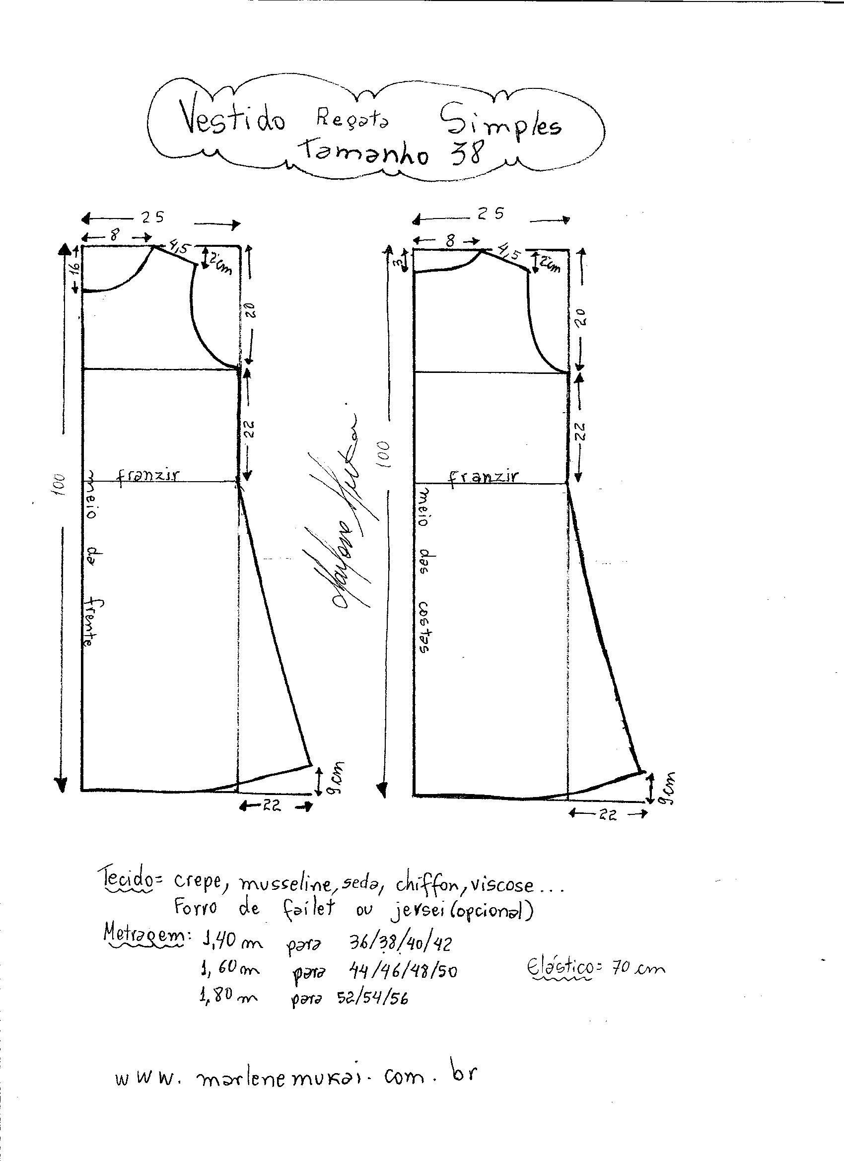 Vestido Regata Simples | patrones | Pinterest