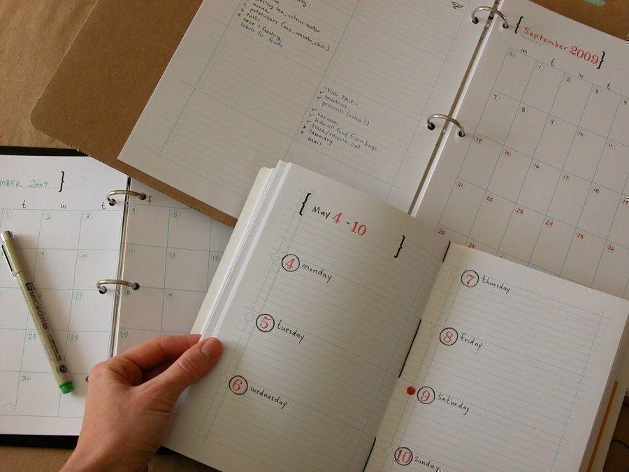 DIY Planner and Calendar - PDF digital file by droplet on Etsy https://www.etsy.com/listing/60248596/diy-planner-and-calendar-pdf-digital
