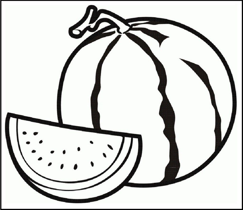 watermelon coloring and activity page | Fruit coloring page | Pinterest