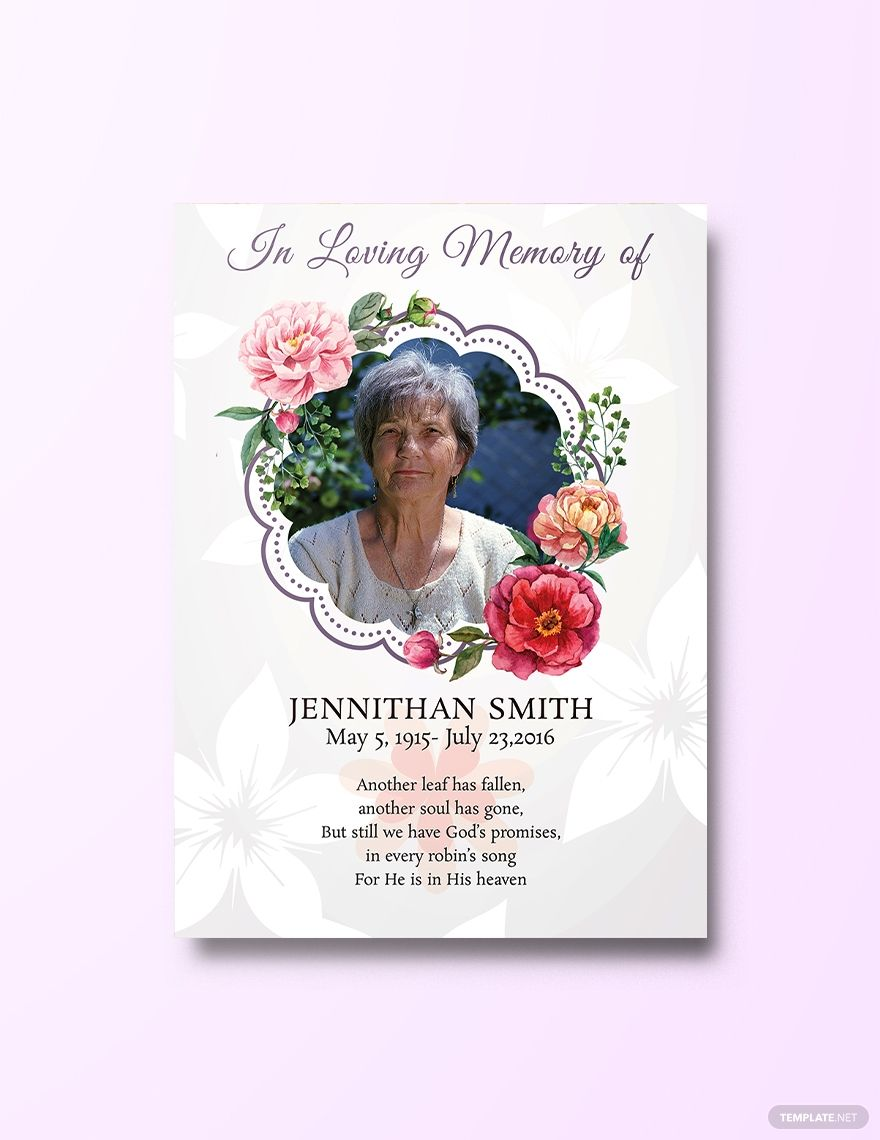 Free Floral Funeral Thank You Card Template Word Doc Psd Apple Mac Pages Illustrator Publisher Funeral Thank You Cards Christmas Card Template Funeral Thank You