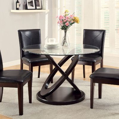Wade Logan Dining Table Dining Table Glass Round Dining Table