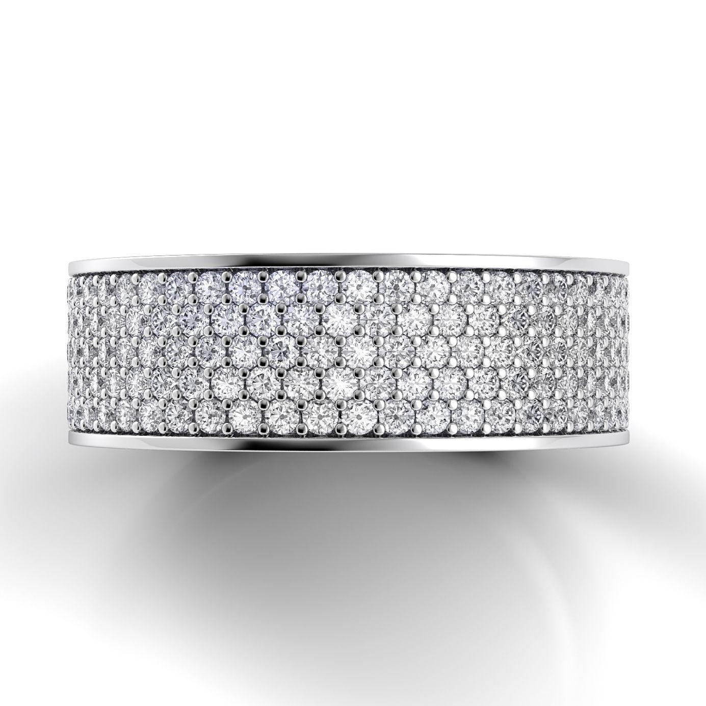 Danhov Classico Flat Diamond Band CB106-A: Engagement Rings   Wedding Bands   Custom Jewelry   Diamonds