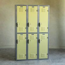 Old / used school lockers (can be found on eBay)