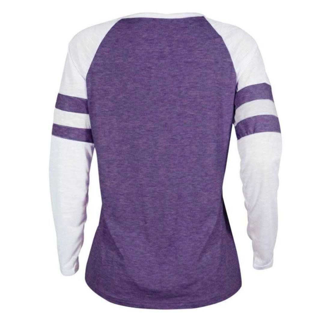 084f2359ce0db iTLOTL Women Ladies Plus Size Long Sleeve Vintage Blouse Tops Patchwork T  Shirt(US 6 CN S, Purple)     You can get more details by clicking  on the ...