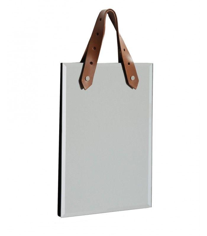 Miroir Carré En Métal Noir Et Anse Corde 30cm En 2018 Miroir