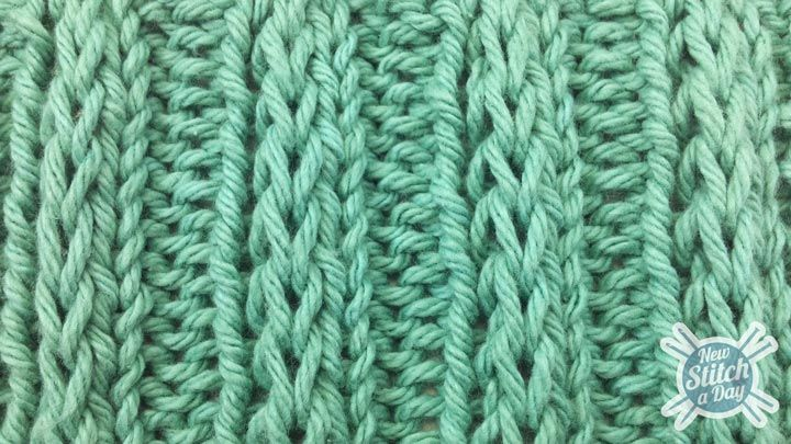 Example of the Fancy Slip Stitch Rib Pattern...This site has a bunch of aweso...