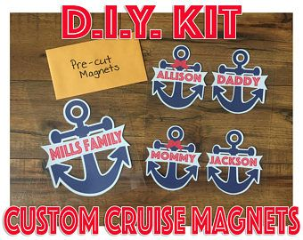 Diy Kit To For Custom Cruise Door Decorations Magnets
