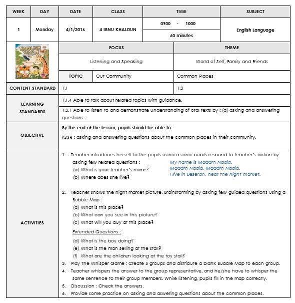 Template Rph Terbaru Mudah Senang Free Download Templates Teaching Kids Learning Process