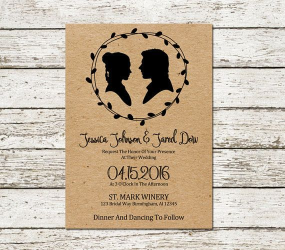 Star Wars Wedding Invitation Kraft Paper Design Scifi Movie Han and