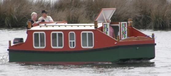 escargo, plans by philip thiel. | Home built floats in 2019 | Boat, Shanty boat, Wooden boat plans