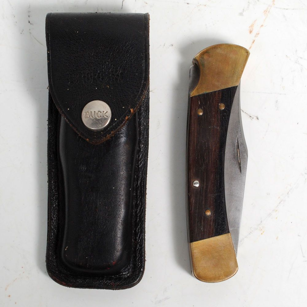 Vintage Buck 110 Lock Back Hunting Knife - W/ Sheath #Buck ...