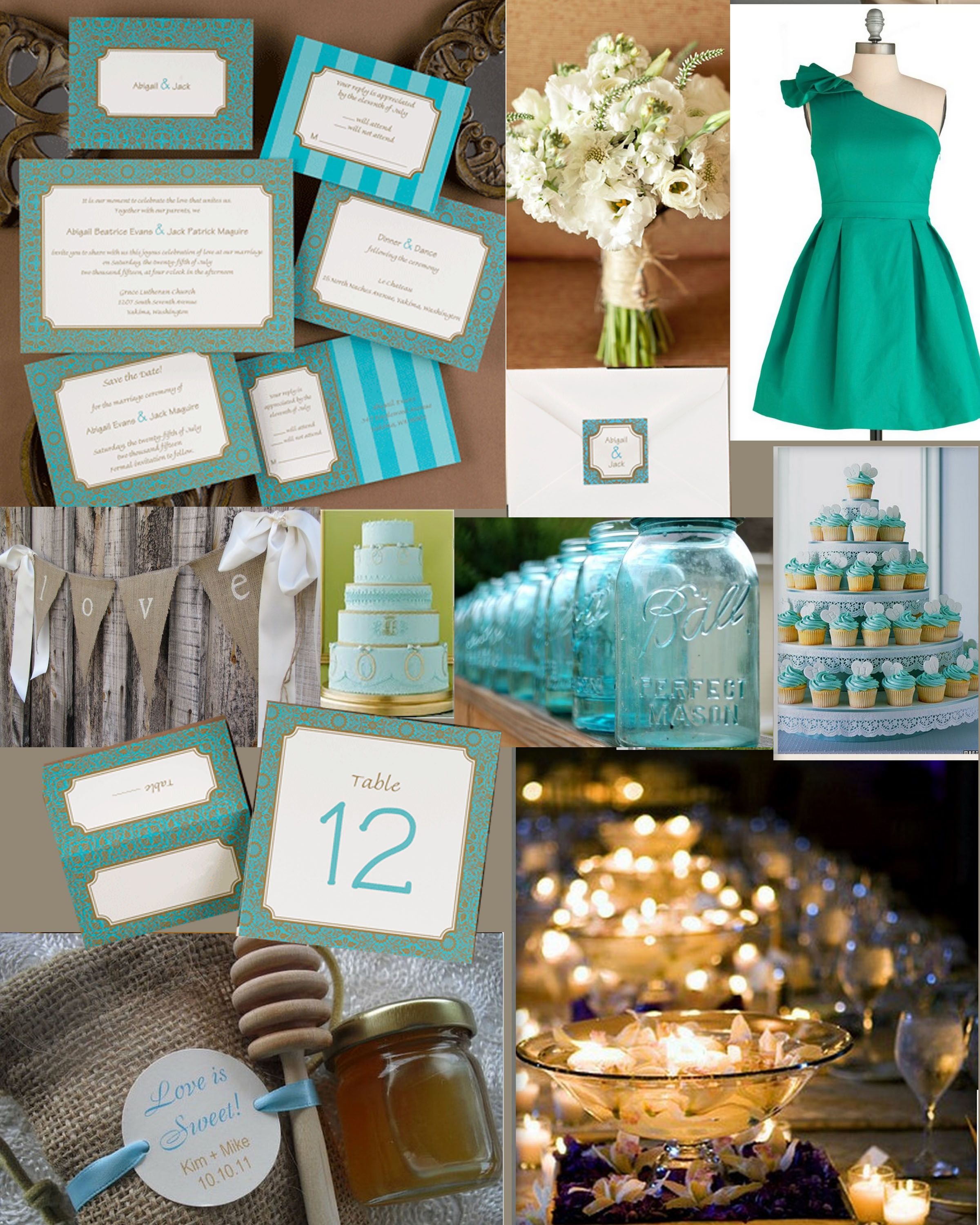 Event Inspiration Blue Teal And Burlap