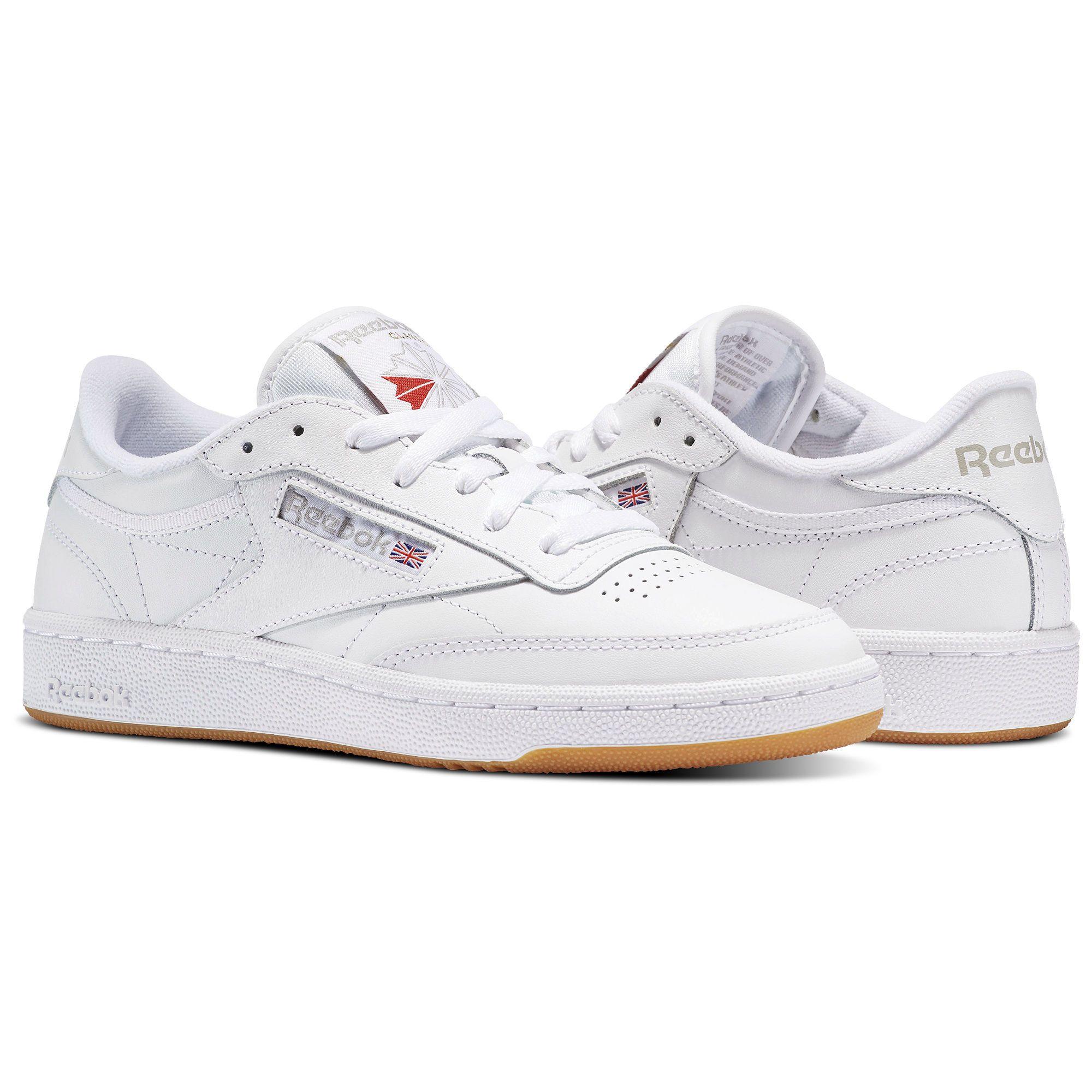 Reebok Shoes Women's Club C 85 in WhiteLight GreyGum Size