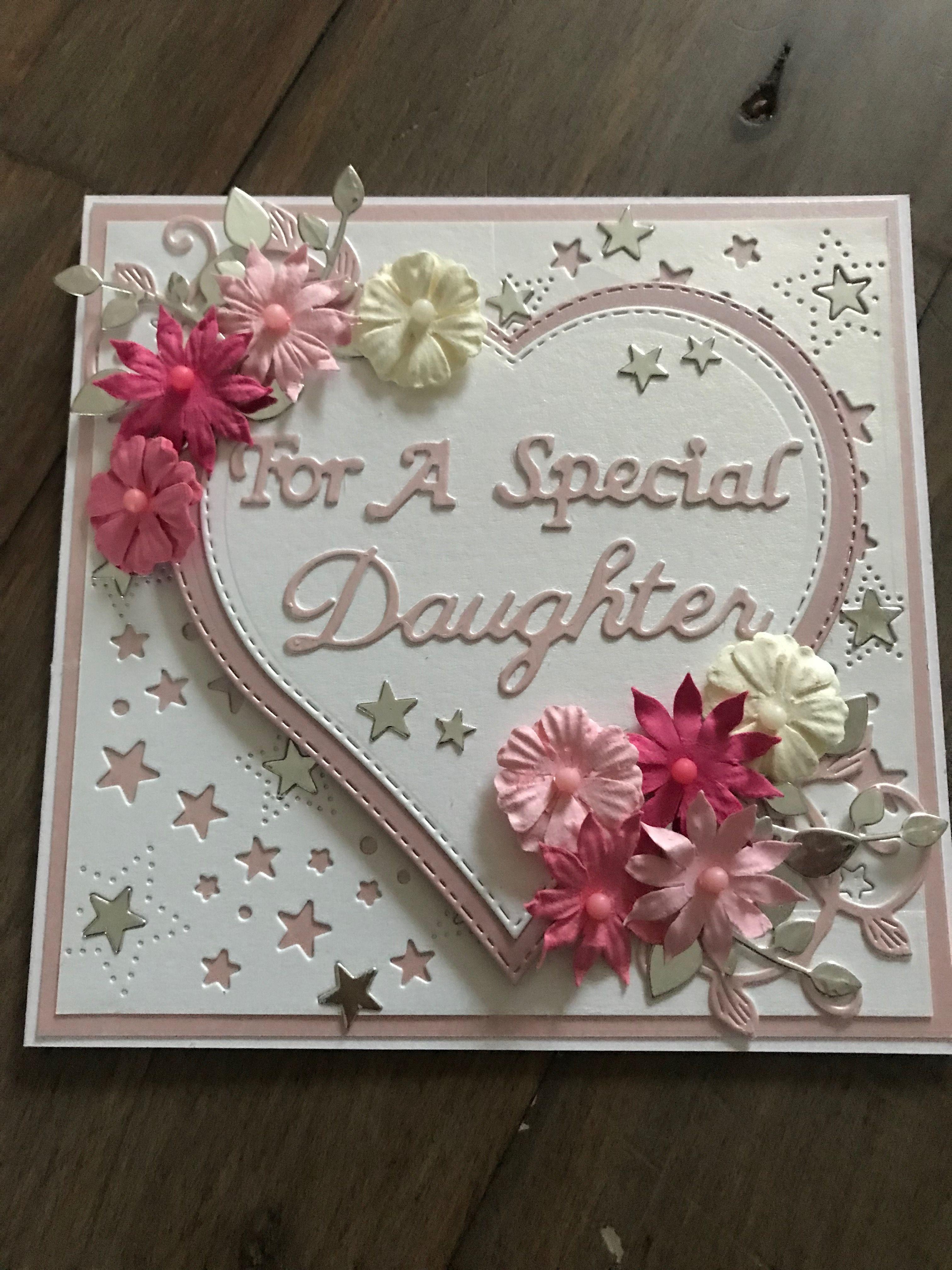 Daughter Birthday Card Card Making Birthday Happy Birthday Daughter Cards Daughter Birthday Cards