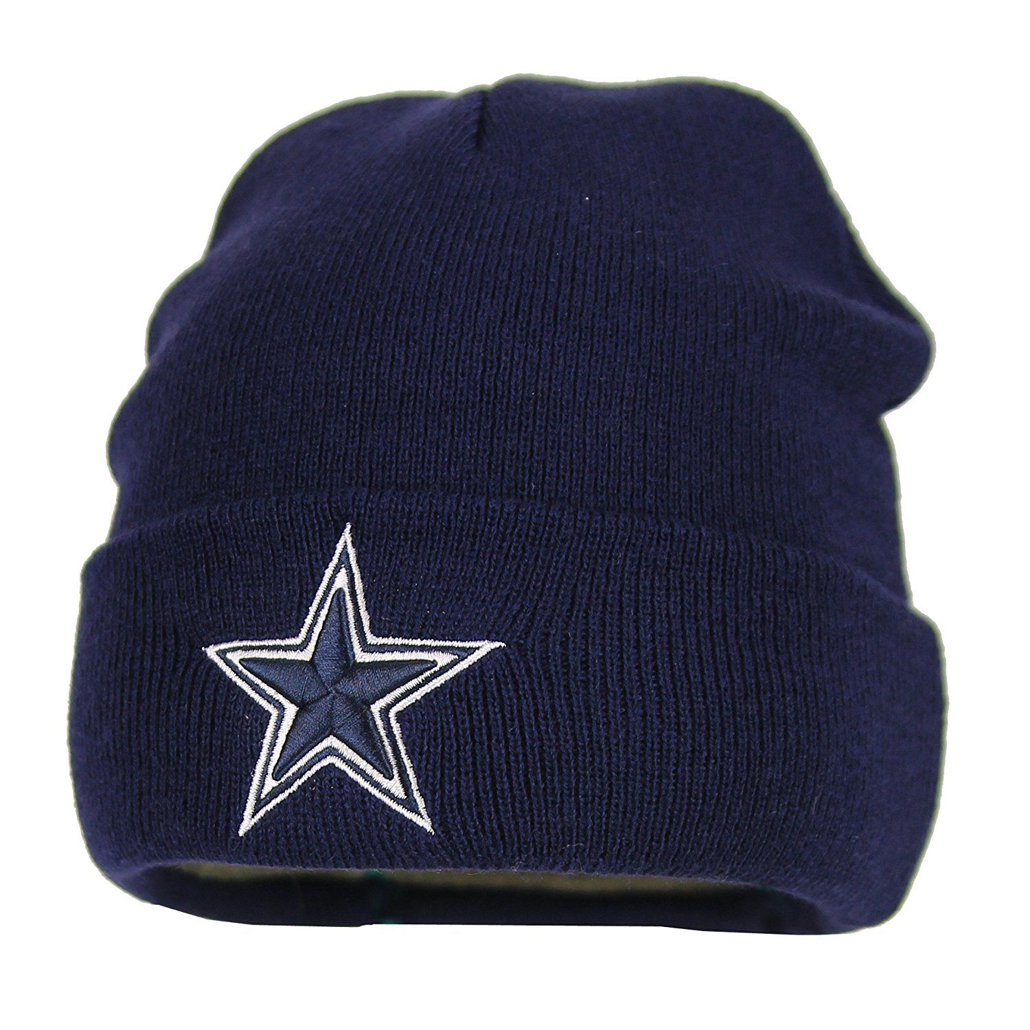 3994f20d083a0 Amazon.com   Dallas Cowboys Basic Knit Hat (Navy)   Sports Fan Beanies    Sports   Outdoors