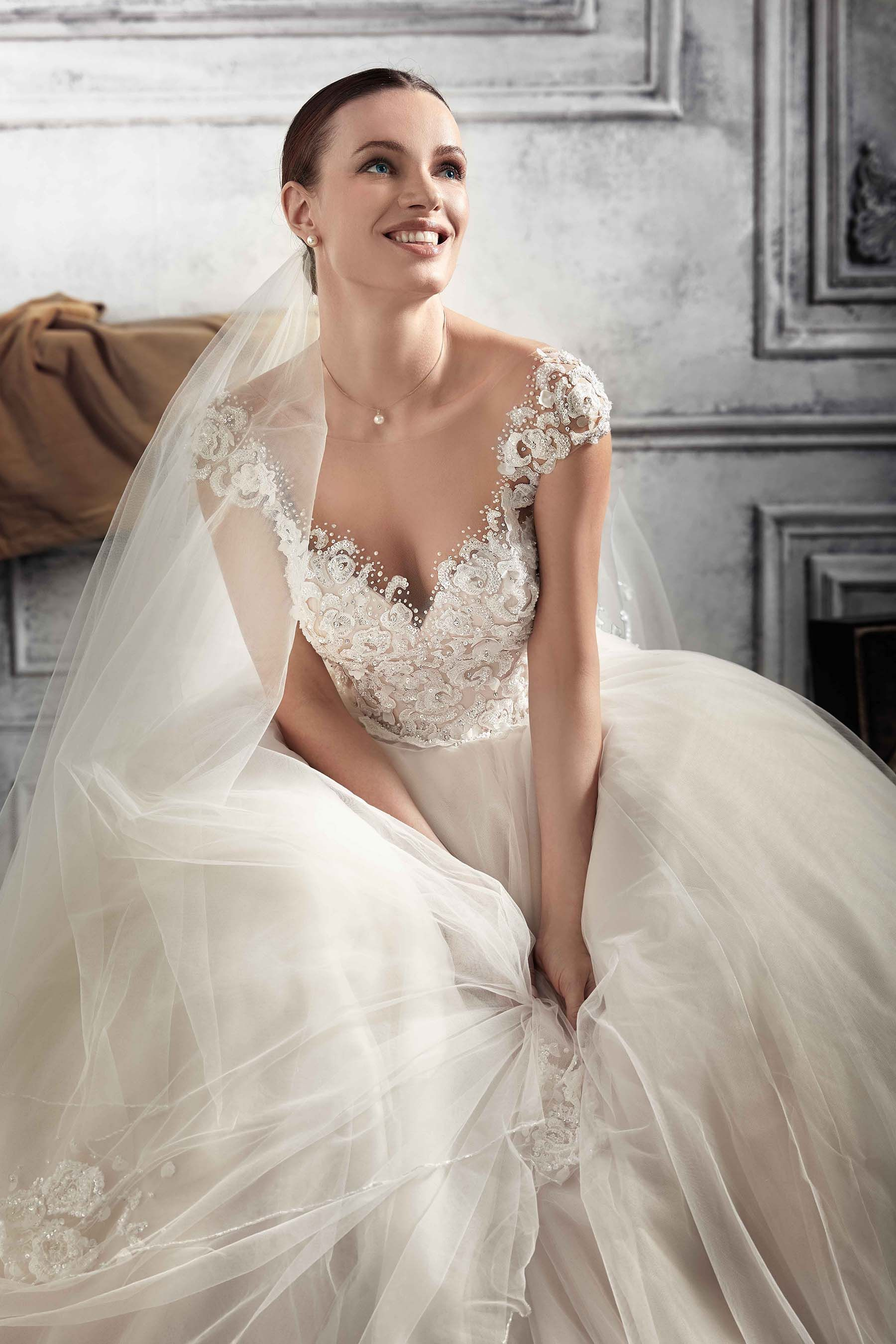Style 808 wide skirt view   Demetrios 2018/2017   Pinterest