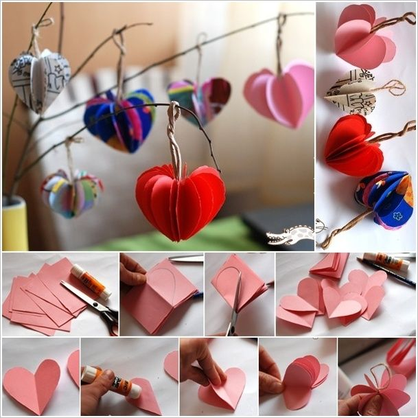 easy paper hearts tree 2 decorate your home - How To Decorate Your Home