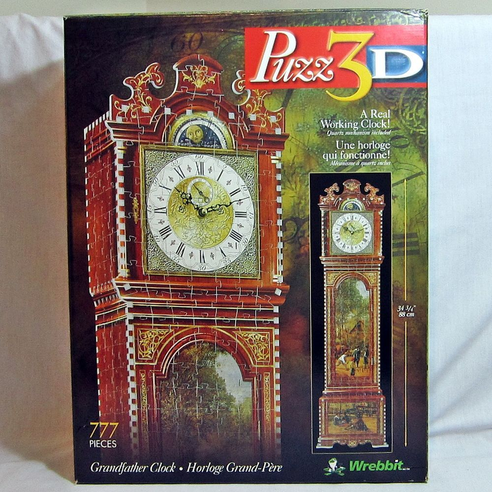 Wrebbit Puzz3d Working Grandfather Clock Puzzle Complete 777