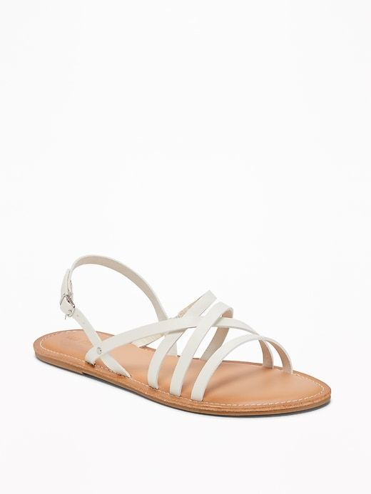 8bba643da76 Strappy Faux-Leather Sandals for Women