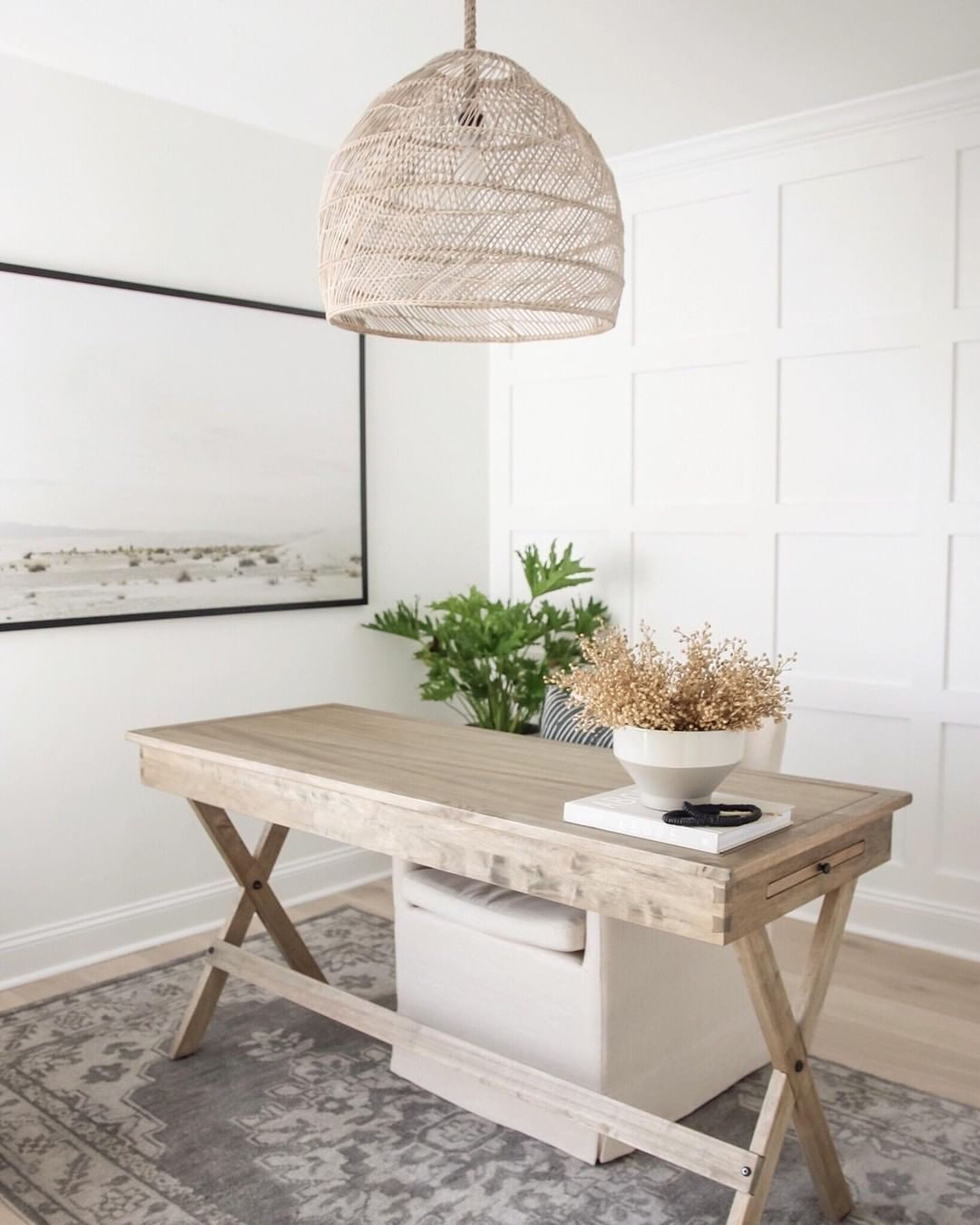 World Market On Instagram Home Office Goals Our Campaign Desk Looks Stunning In Blushingboho S Space Link In P In 2020 Campaign Desk Home Office White Desk Decor