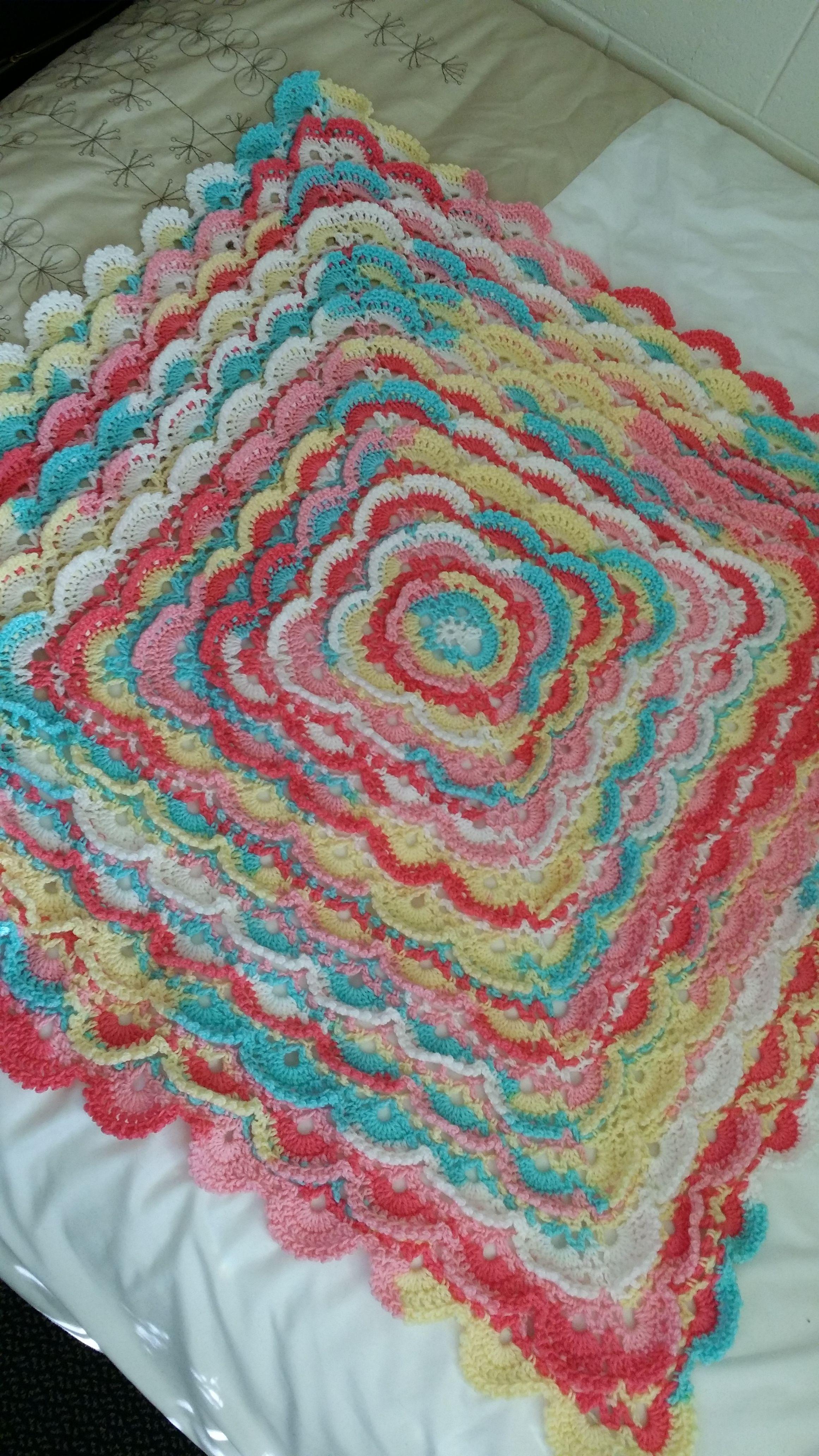 Fluffy Meringue Baby blanket. Yarn Baby Batik | Crafts ...