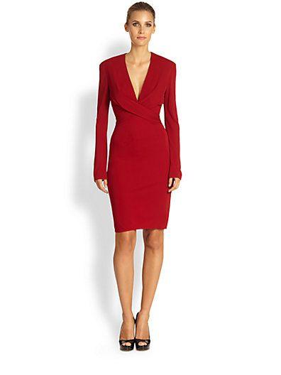 1323d4cb082d ISSA - Deep V-Neck Jersey Dress - Saks.com ~ very popular dress ...