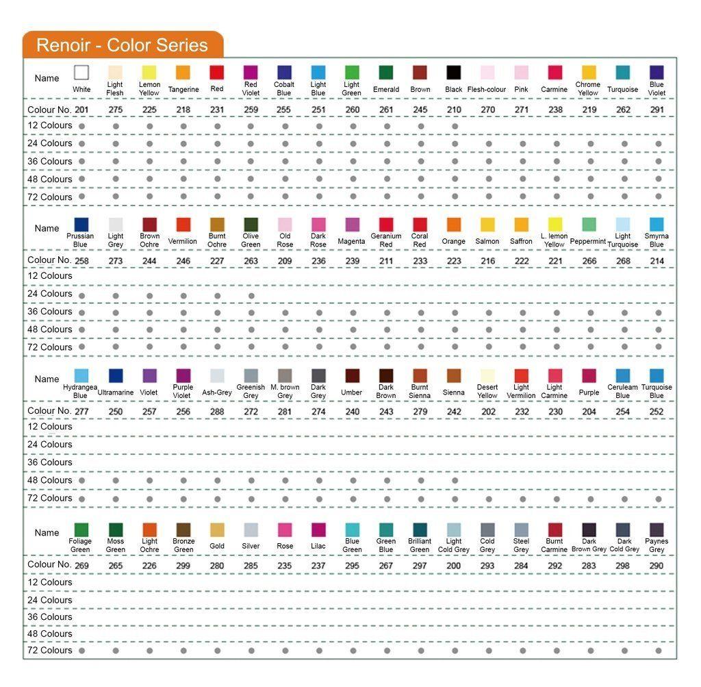 Populaire Colour Chart for Caran D'Ache Luminance Pencils | Rainbow  SJ47
