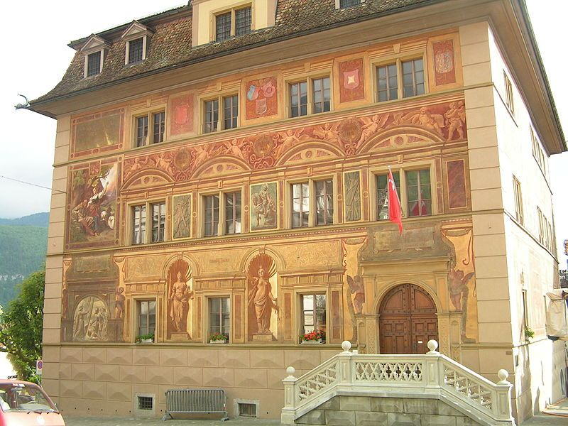 The Town Council House in Schwyz is also used for regular