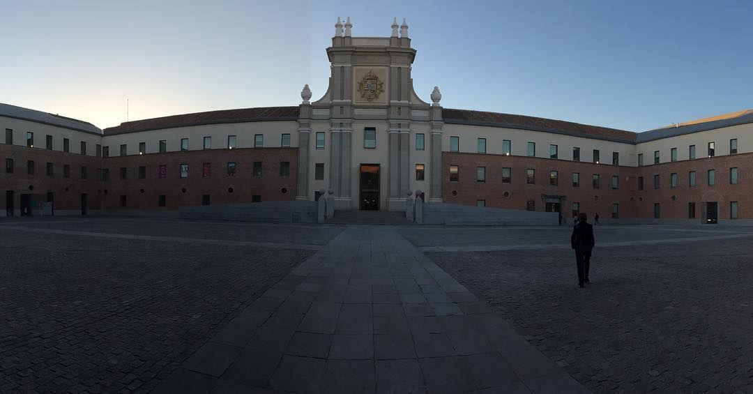 El centro cultural #CondeDuque en #Madrid al atardecer. Bonito sitio para la cultura y las artes. by bryanroberts