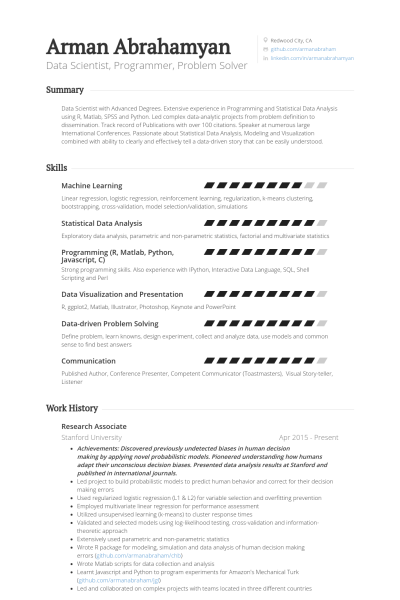 Scientific Programmer Sample Resume Research Associate Resume Example  Resume Examples  Pinterest .