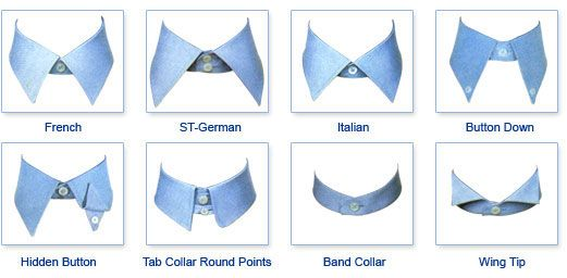 Type of collars sewing pinterest hair scarfs shirt for Different types of dress shirt collars