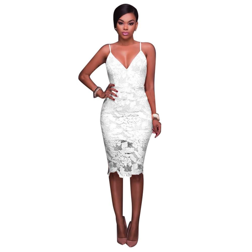 Full lace straps slim dress with lining products pinterest