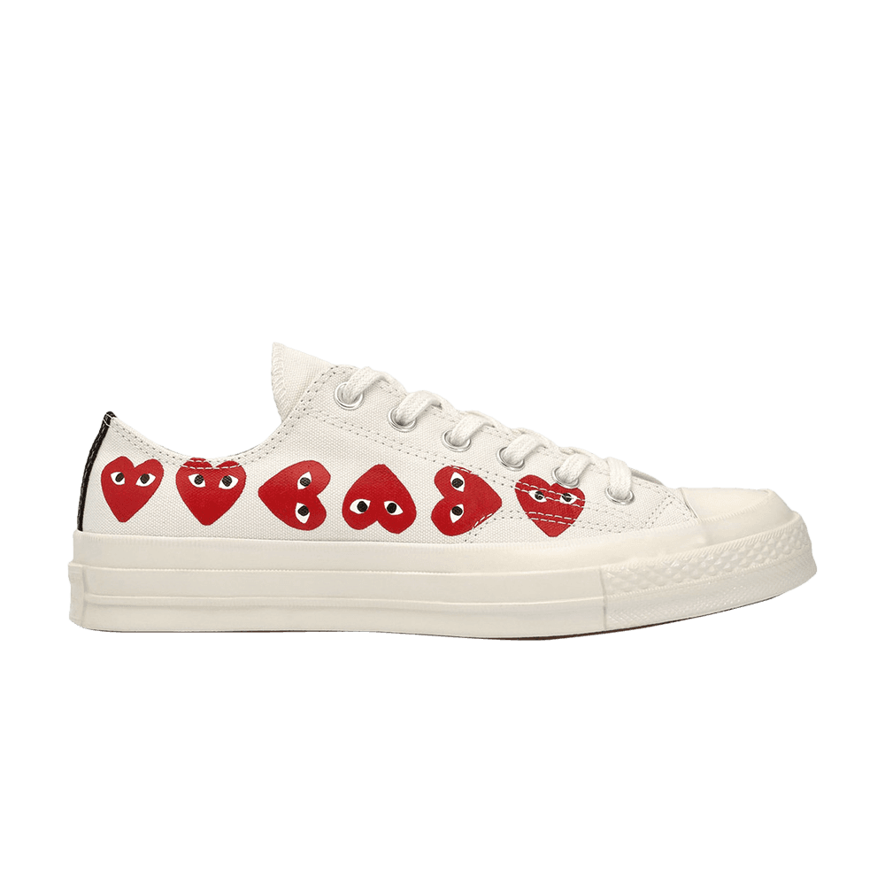 Comme Des Garcons Play X Chuck 70 Low Top Multi Heart Converse 162975c Goat Hype Shoes Heart Shoes Me Too Shoes